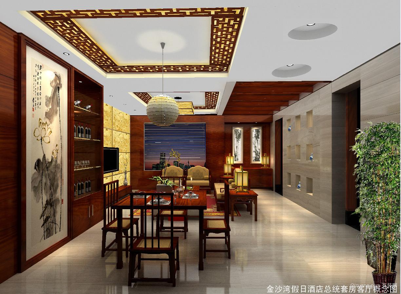 三清山金沙湾假日酒店中式风格装修效果图实景图