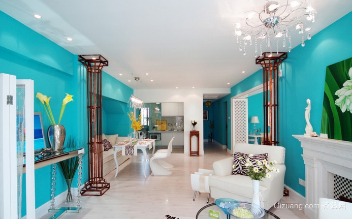 绿色家园小区地中海风格装修效果图实景图