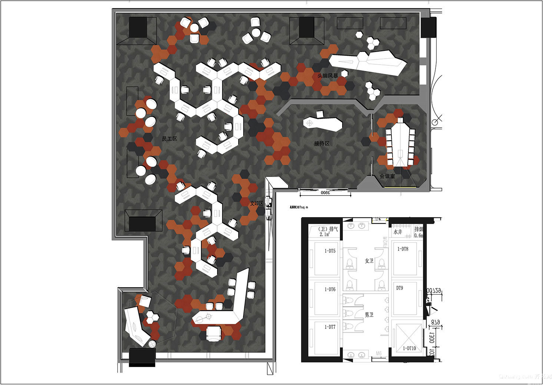 新天地振华里设计公司效果图现代简约装修效果图实景图