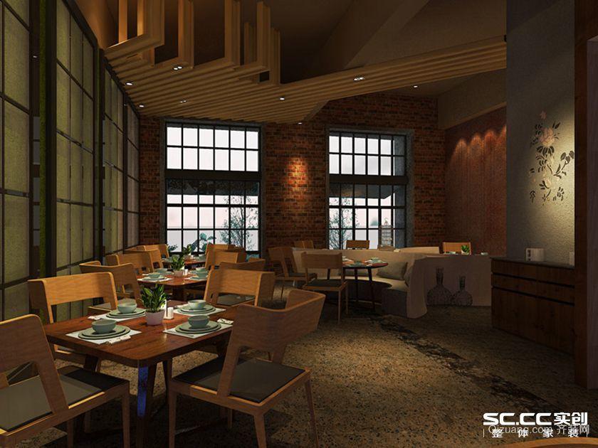 梧桐餐厅主题现代简约装修效果图实景图
