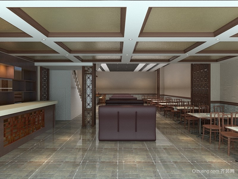 川菜馆中式风格装修效果图实景图