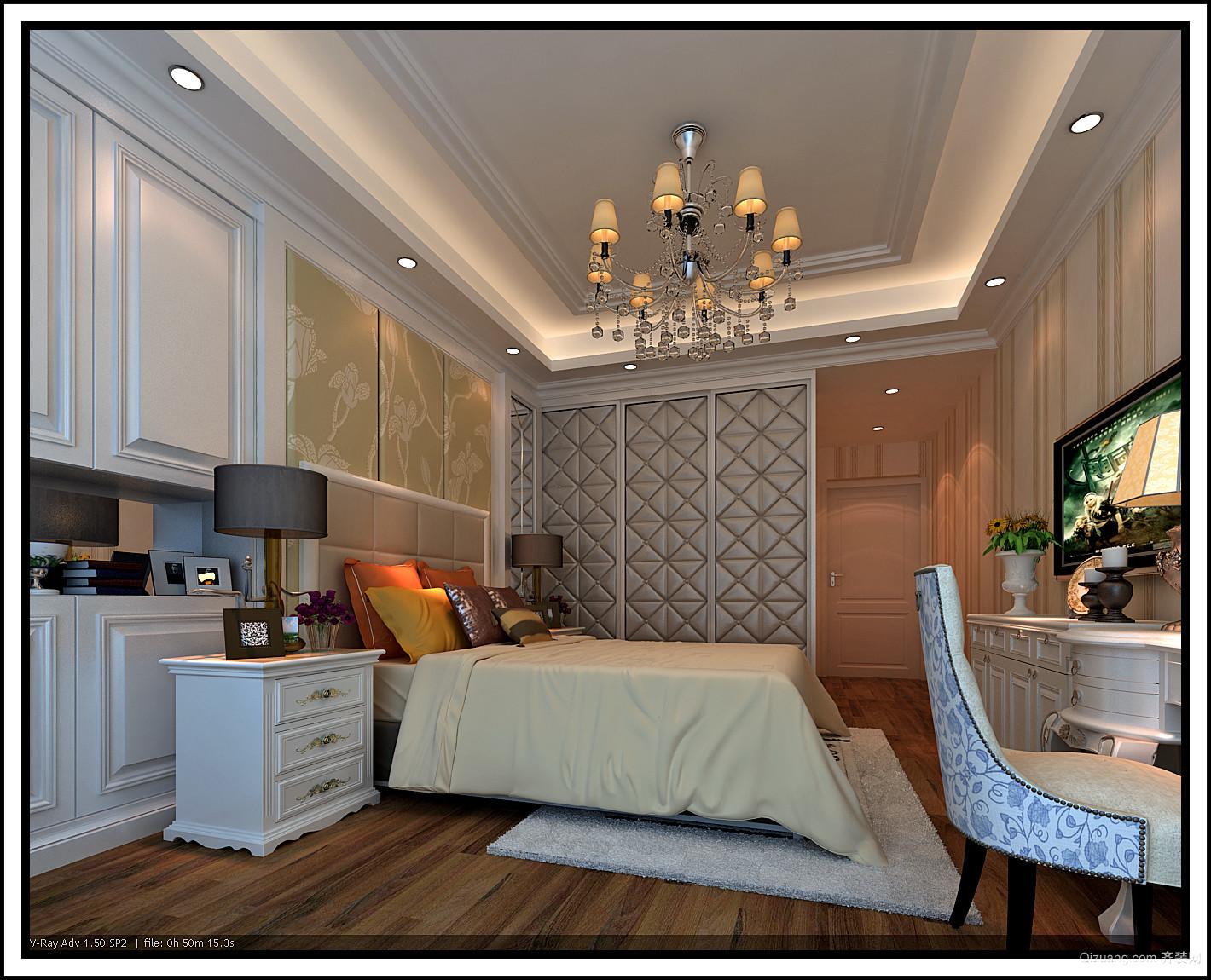 滨江豪园欧式风格装修效果图实景图