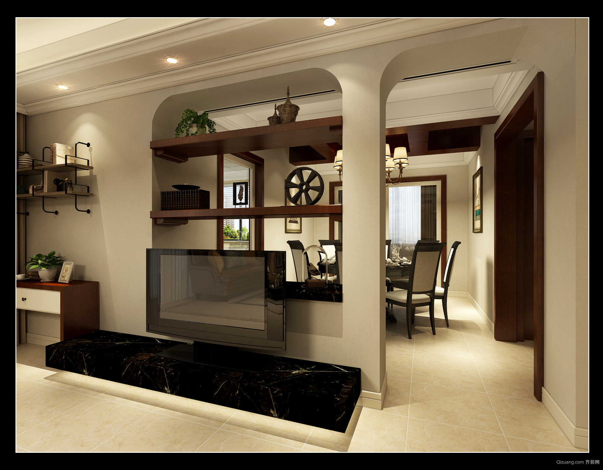 锦兰公寓美式风格装修效果图实景图