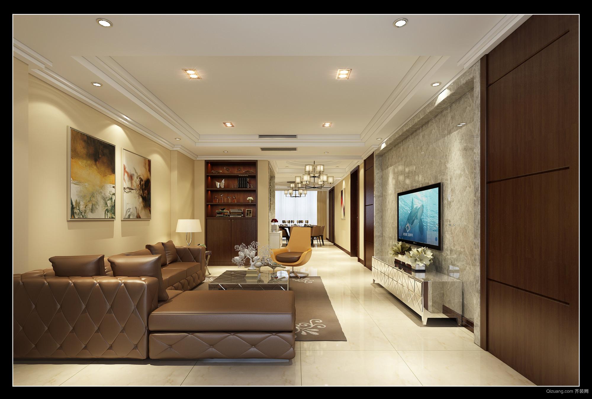 锦兰公寓现代简约装修效果图实景图