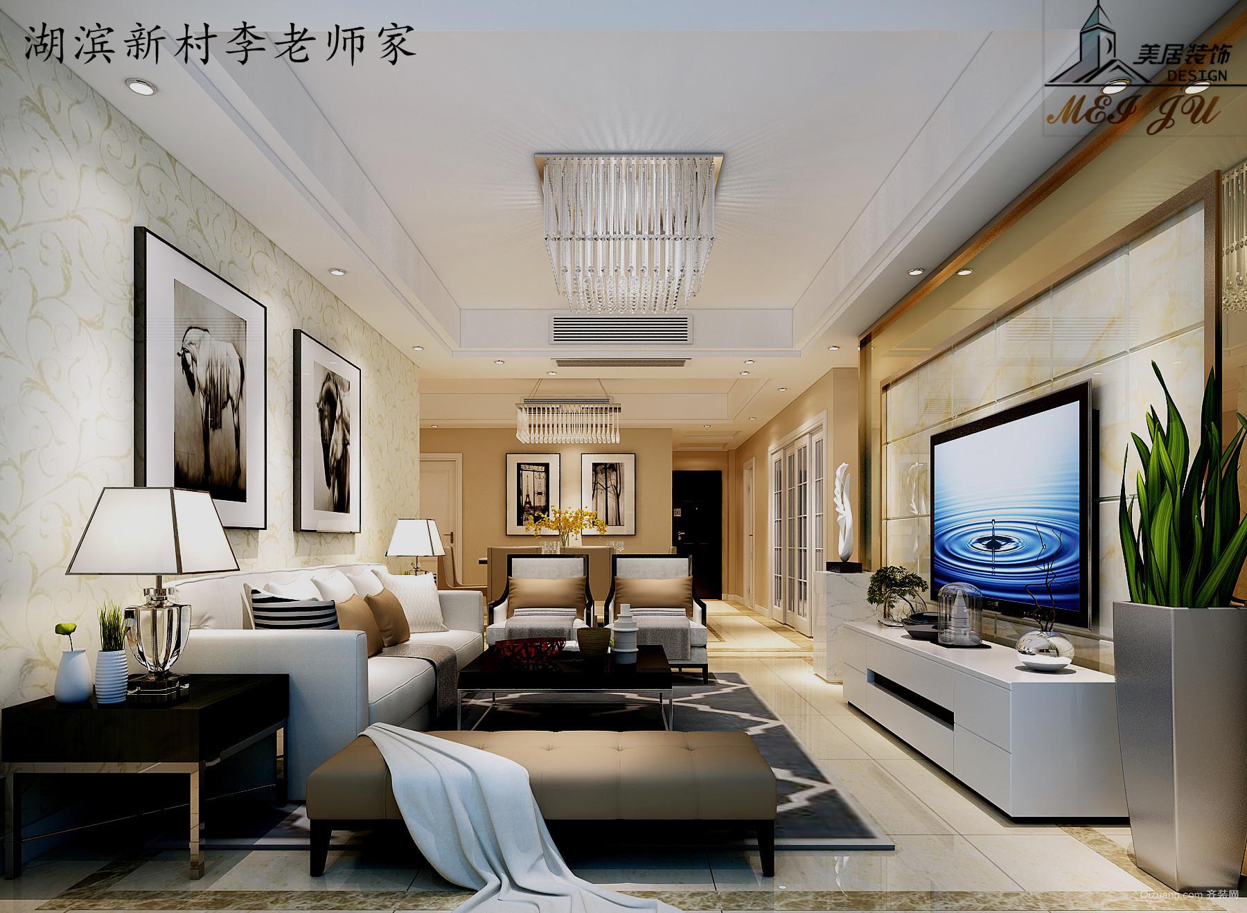 湖滨新村中式风格装修效果图实景图