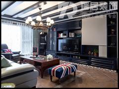 美式风格-芜湖江岸明珠135平美式混搭装修风格效果图