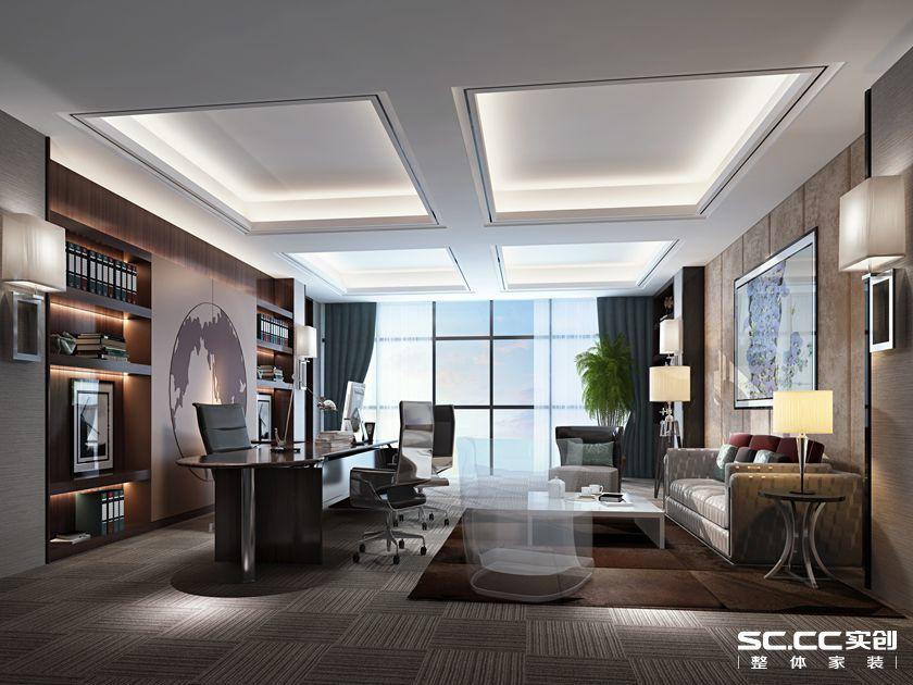 浦东东郊宾馆旁现代简约装修效果图实景图