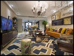 美式风格-芜湖城市之光118平美式风格装修效果图