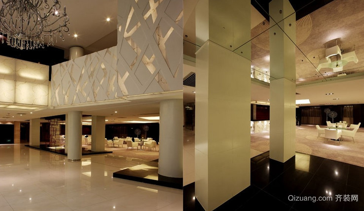 酒店大厅欧式风格装修效果图实景图