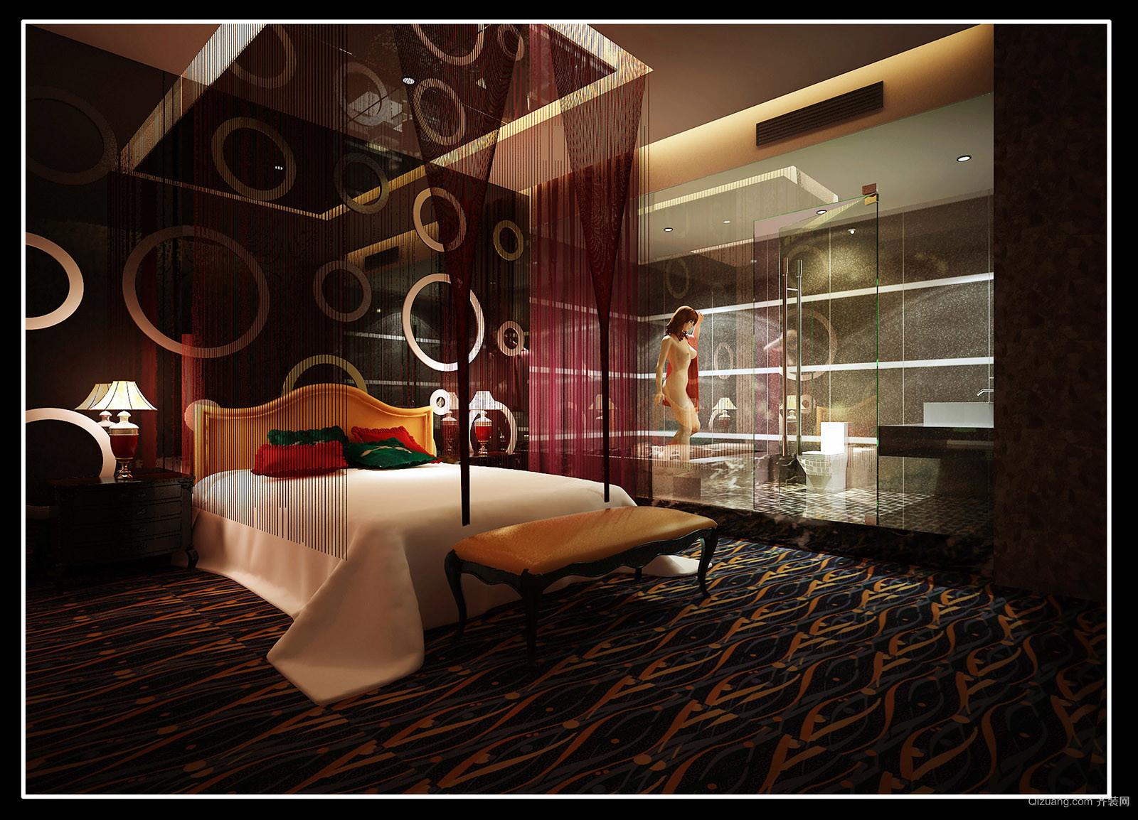 江苏泰州酒店现代简约装修效果图实景图