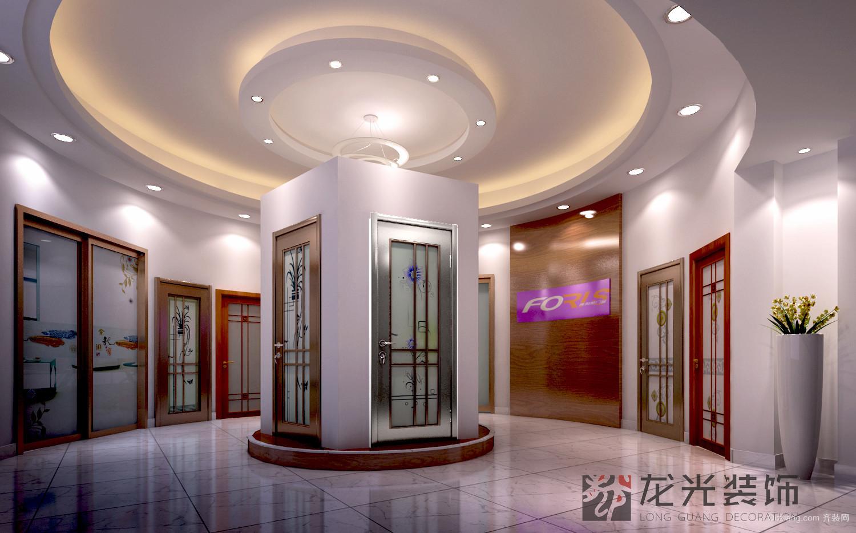 大沥门业展厅现代简约装修效果图实景图