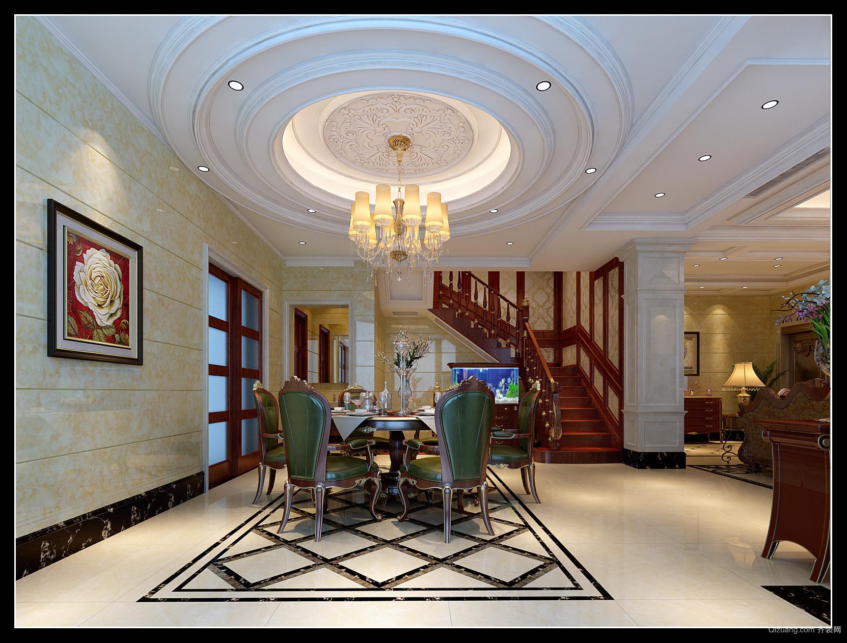 香山美邸欧式风格装修效果图实景图