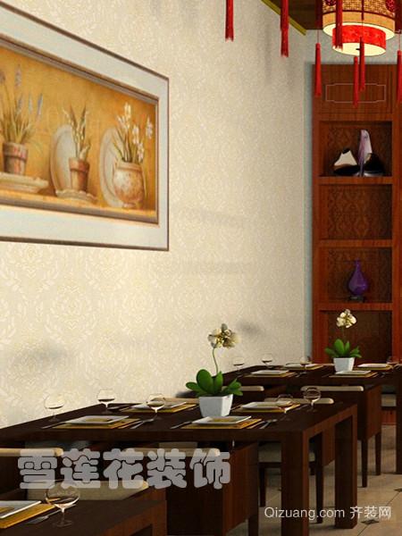 餐馆中式风格装修效果图实景图