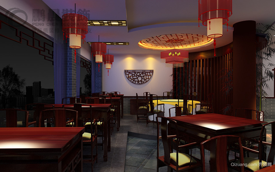 鲁港第一楼中式风格装修效果图实景图