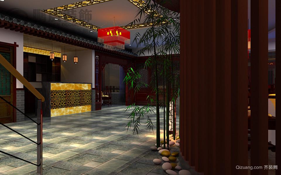 鲁港楼中式风格装修效果图实景图