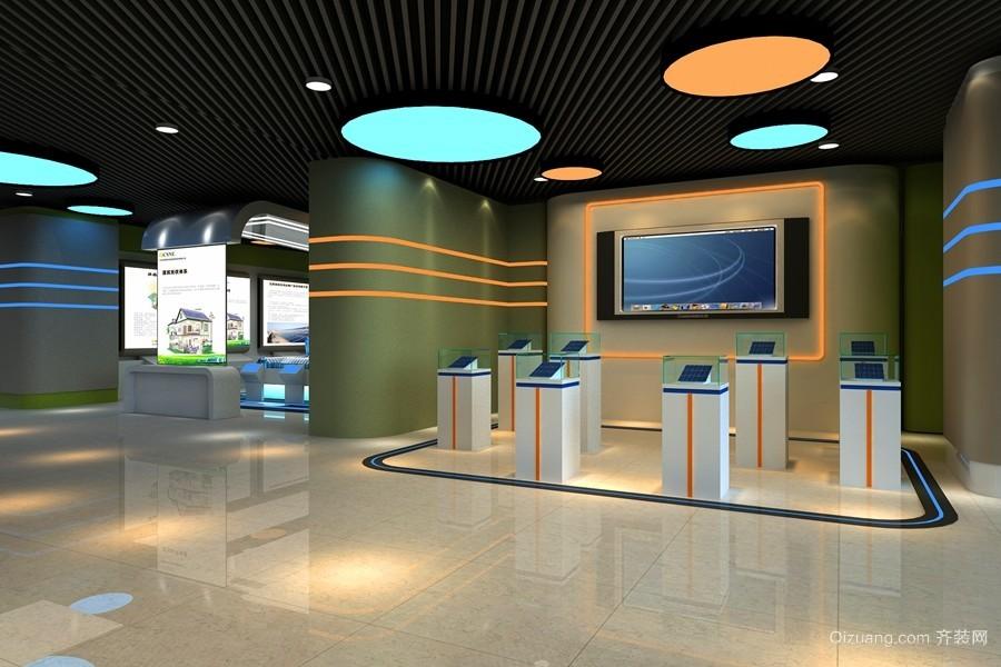 太阳能发电光伏体验馆现代简约装修效果图实景图