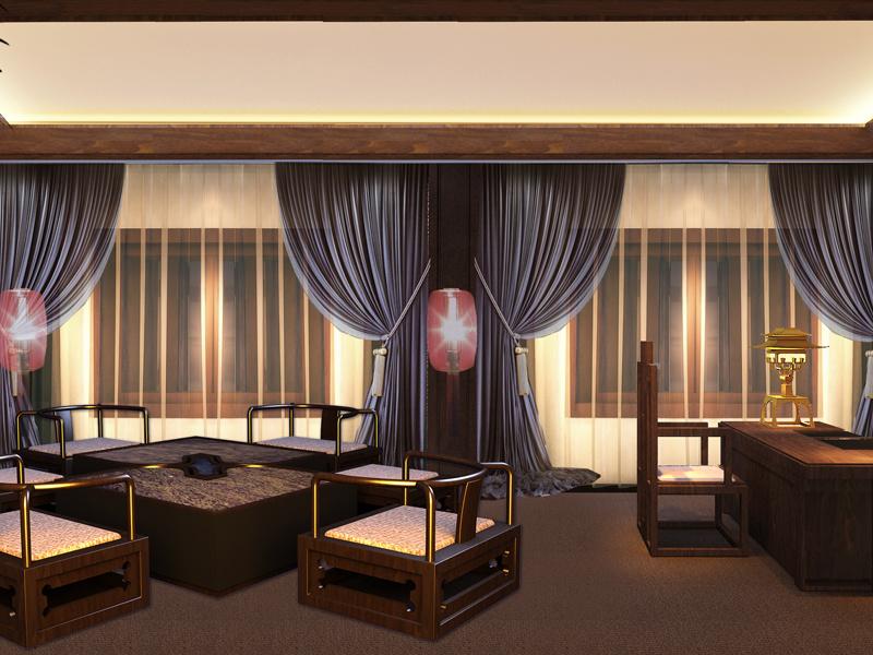 陶瓷会所现代简约装修效果图实景图