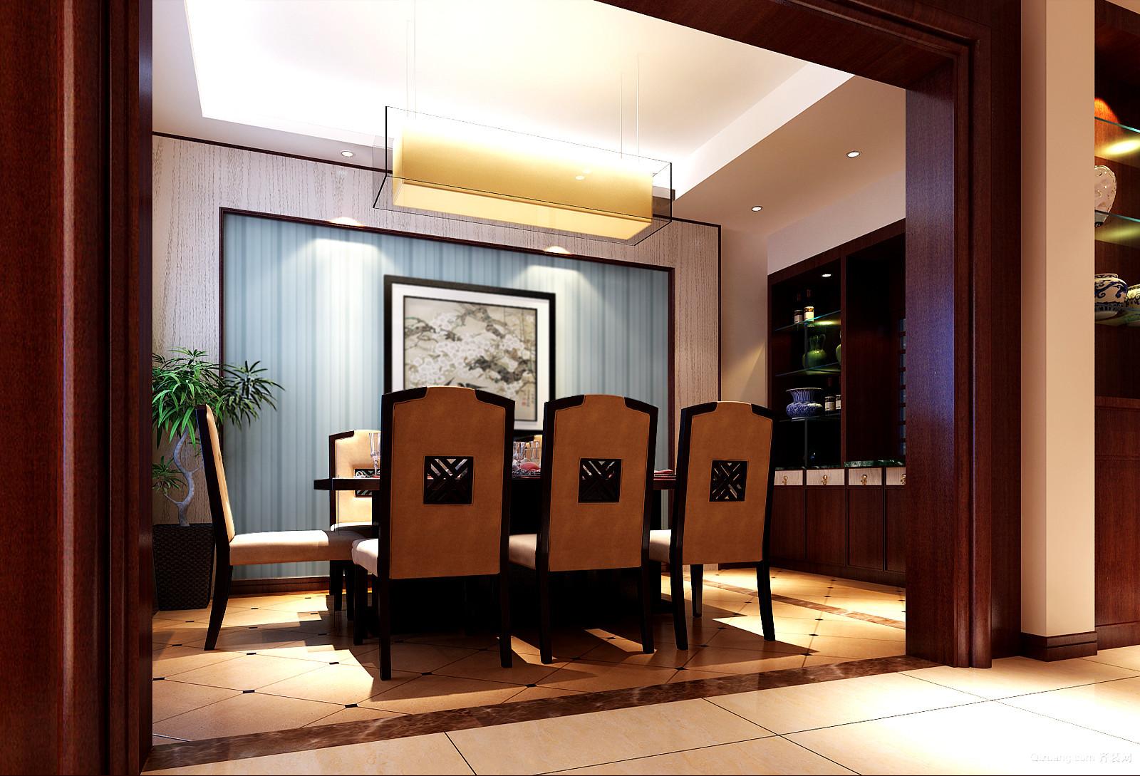 玫瑰园65-4中式风格装修效果图实景图