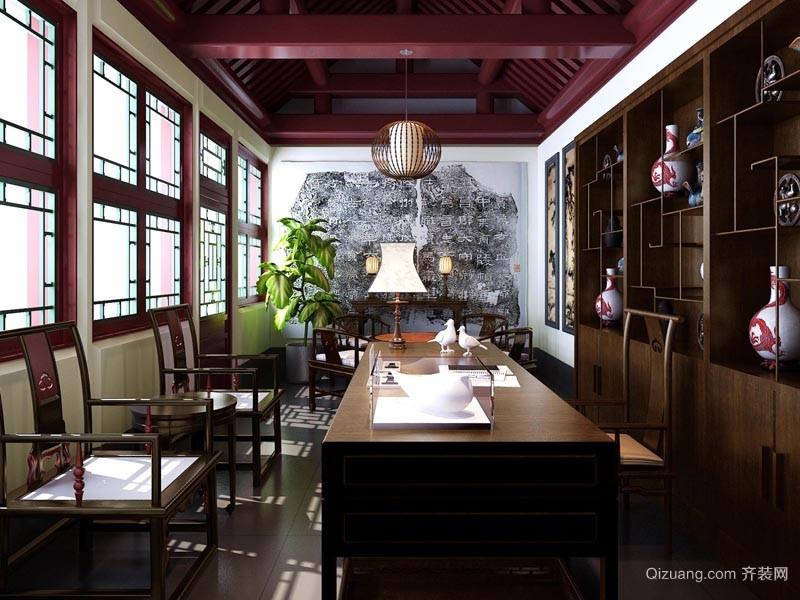 香山四合院现代简约装修效果图实景图