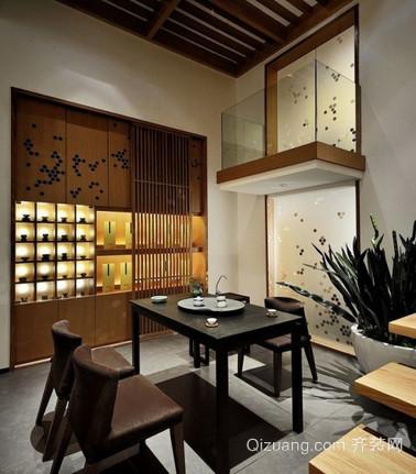 茶馆古典风格装修效果图实景图