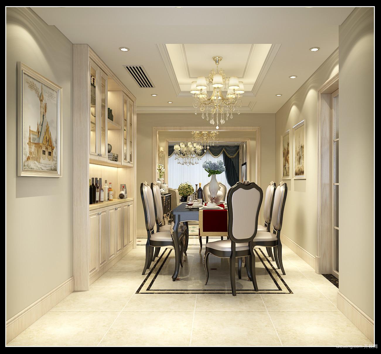 绿城锦兰公寓欧式风格装修效果图实景图