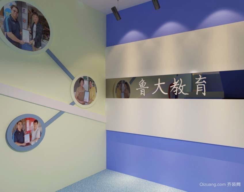 中小学教育培训机构现代简约装修效果图实景图