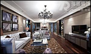 芜湖兆通大观花园135欧式古典风格装修案例效果图