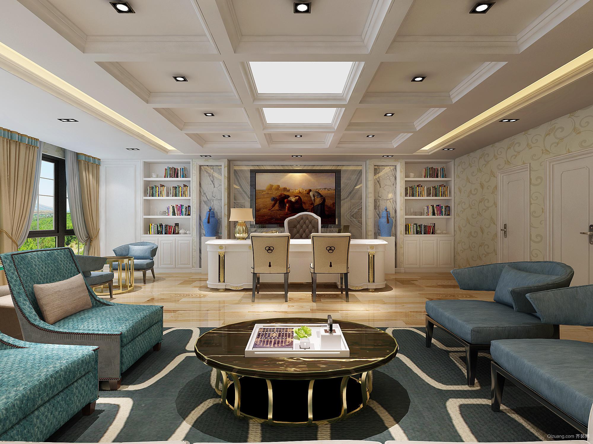 运昇大厦欧式风格装修效果图实景图