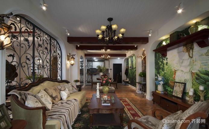香江贵和苑三期美式风格装修效果图实景图