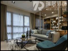 现代简约-芜湖世贸滨江106平现代风格装修案例效果图