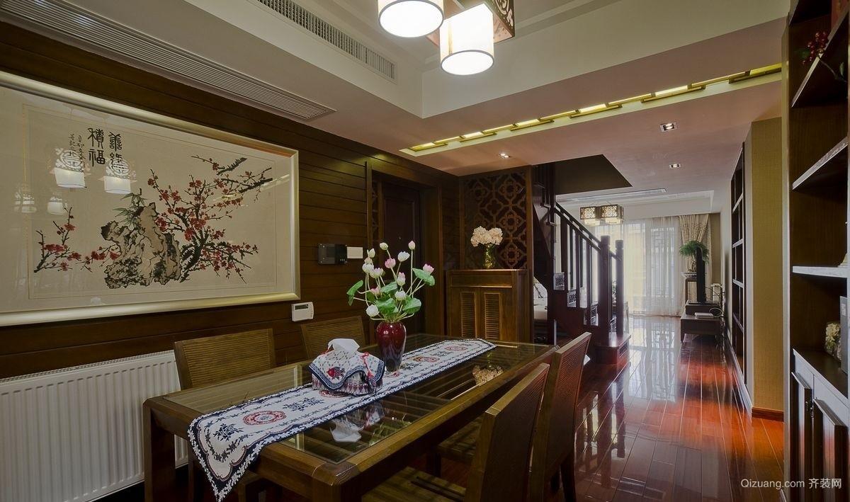 旭日大厦中式风格装修效果图实景图