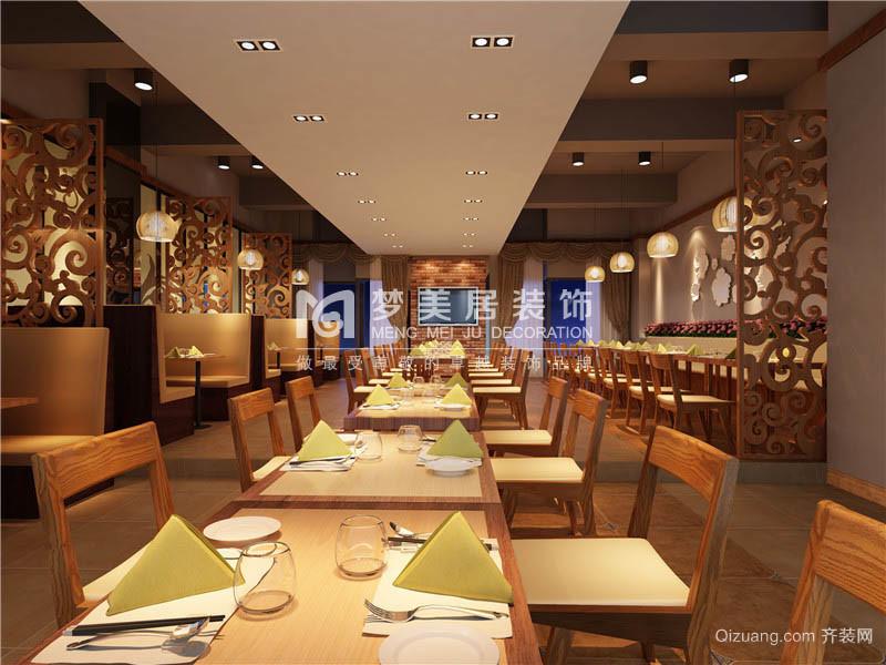 原生态餐厅现代简约装修效果图实景图