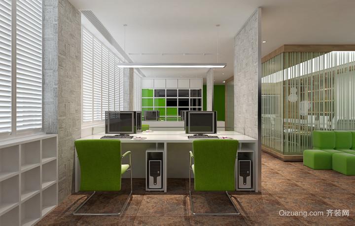 120平小型办公室装修现代简约装修效果图实景图