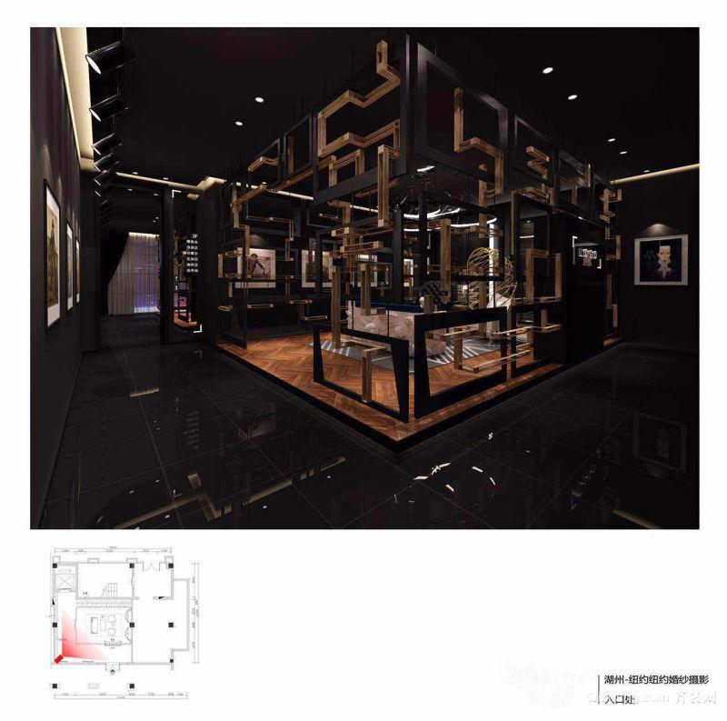 爱山广场纽约纽约婚纱摄影现代简约装修效果图实景图