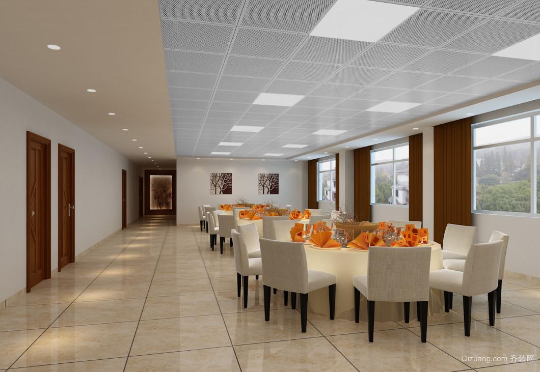 地质队职工食堂现代简约装修效果图实景图