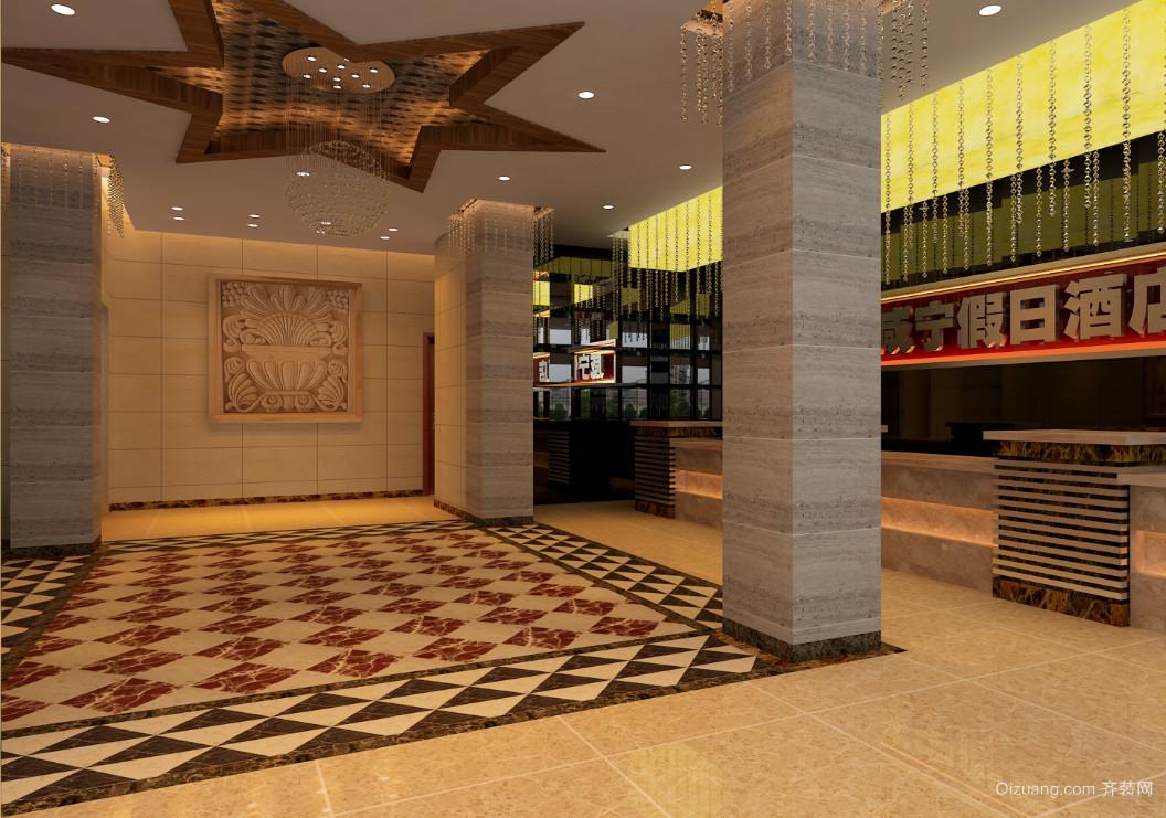 岔路口宾馆现代简约装修效果图实景图
