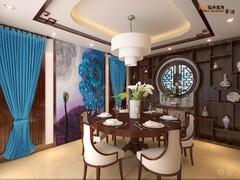 中式风格-龙城花园二期别墅