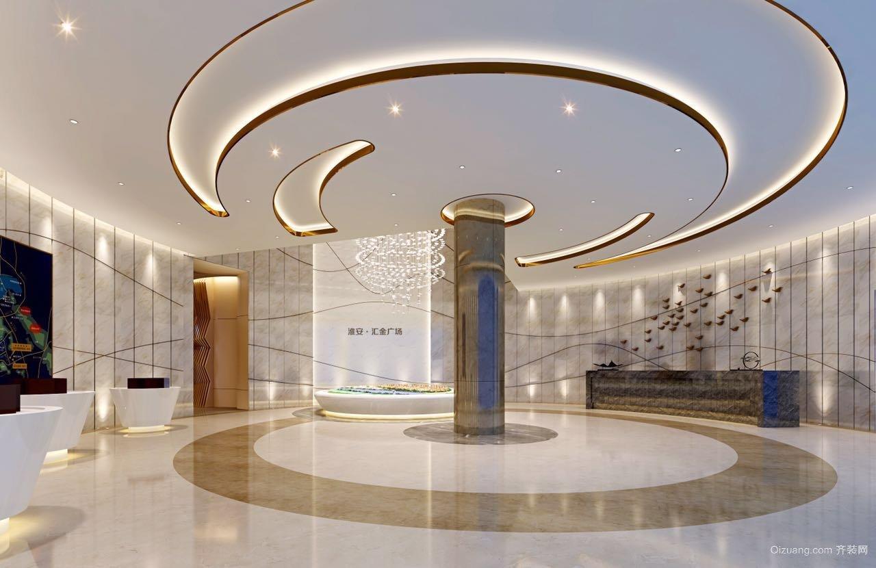 淮安汇金广场售楼处现代简约装修效果图实景图