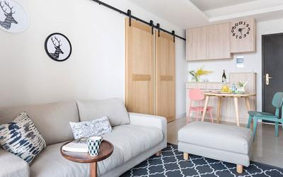 淮安66平简约风格公寓装修图 小户型温馨居宅装修设计案例