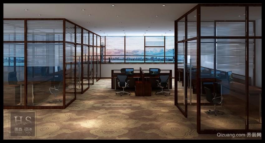 银龙广场办公室现代简约装修效果图实景图