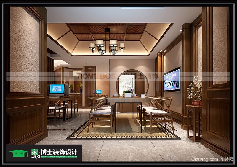 吾悦公寓中式风格装修效果图实景图