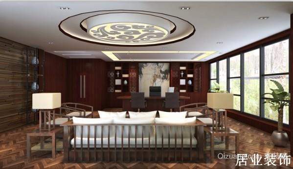海洋国际财富中心中式风格装修效果图实景图