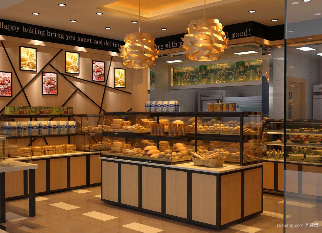 面包房现代简约装修效果图实景图