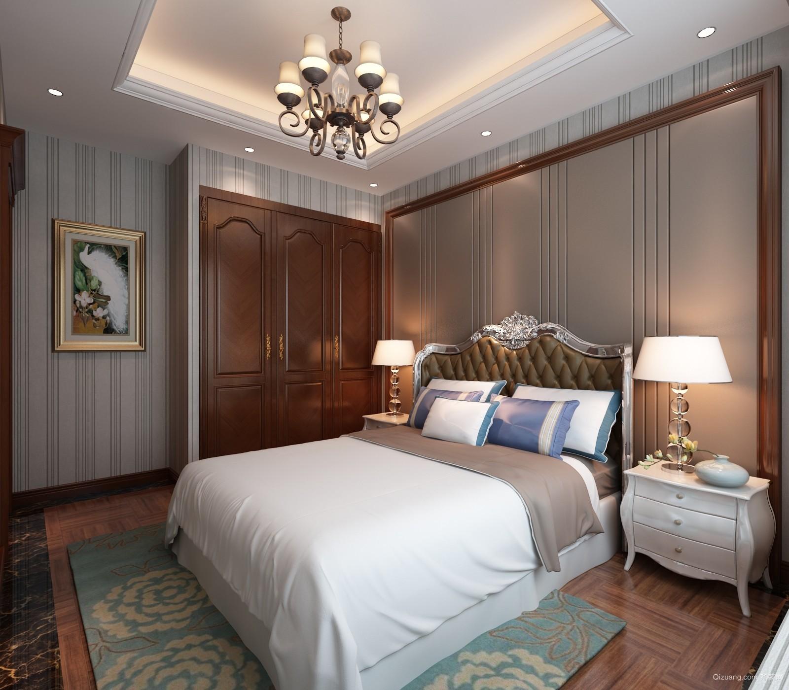 中海紫御公馆美式风格装修效果图实景图