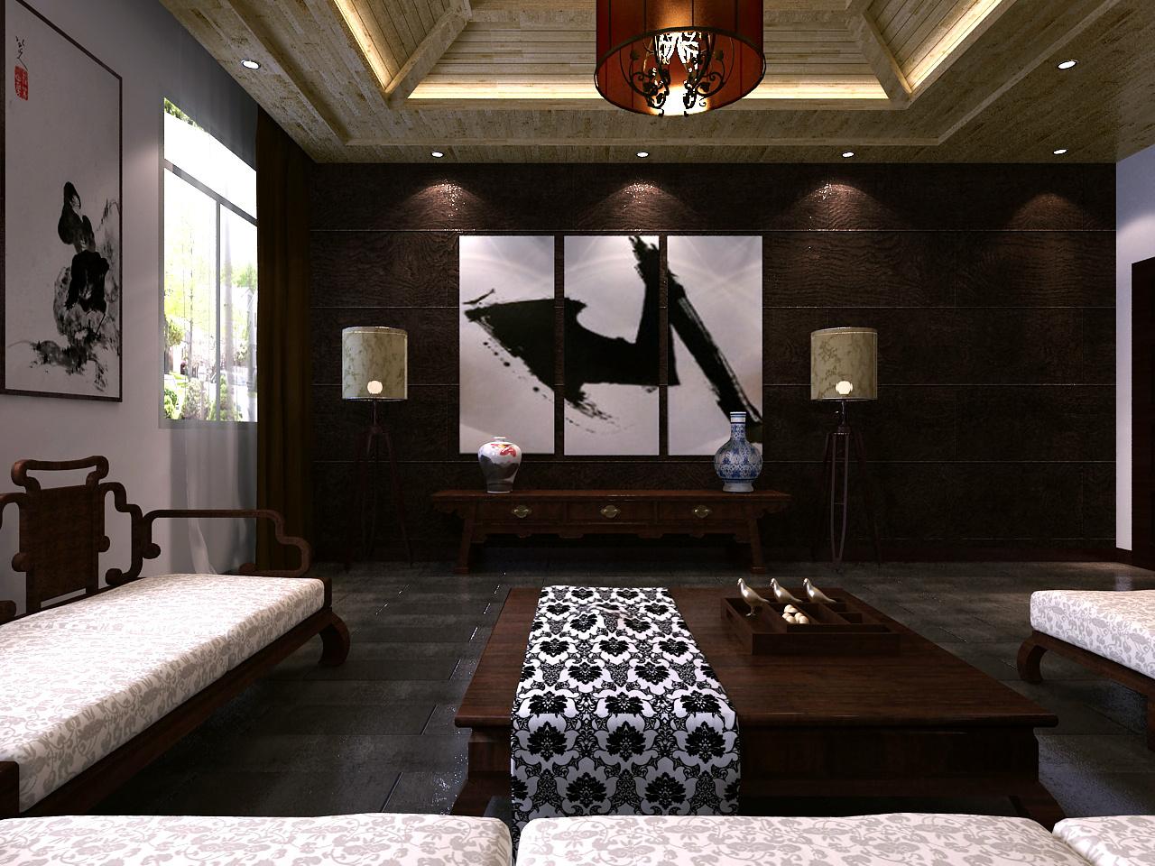 茶室设计古典风格装修效果图实景图