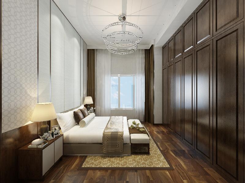 冠城鼓楼庭院03#603中式风格装修效果图