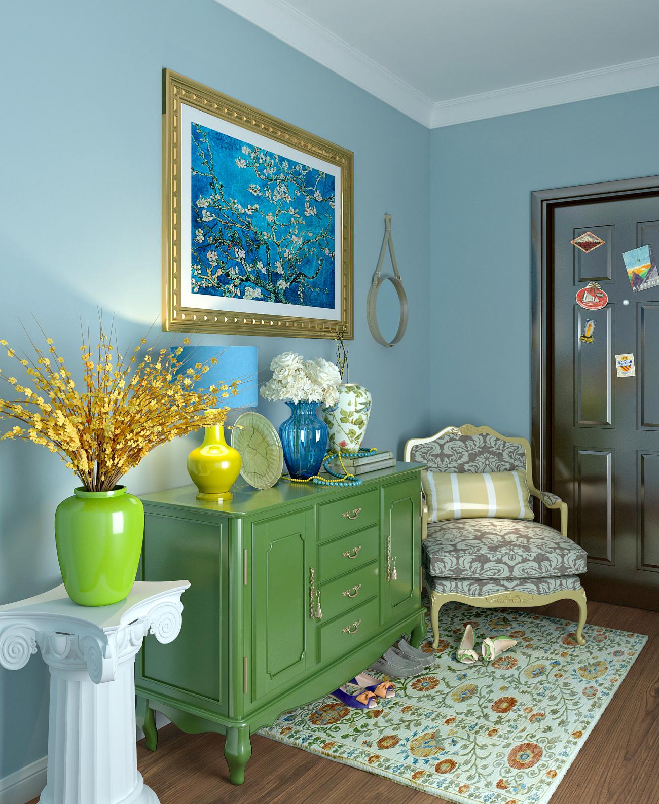 保利江上明珠欧式风格装修效果图实景图
