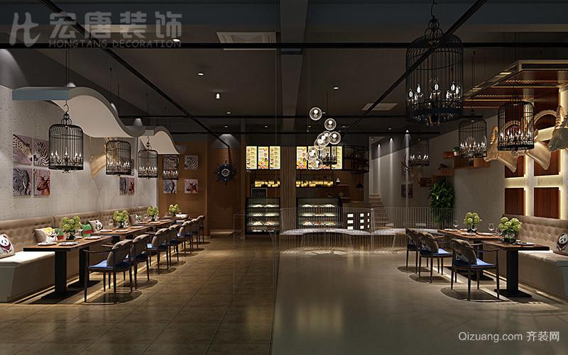 织里烘焙料理店混搭风格装修效果图实景图