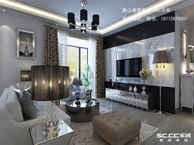 唐山通德紫垣140平米黑白灰的现代之美