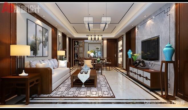 中海凯旋门中式风格装修效果图实景图